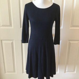 Talbots Navy Blue Sweater Dress